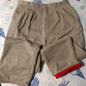 Fleece lined khakis